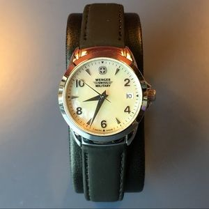 NWT Wenger Leather-Band Watch